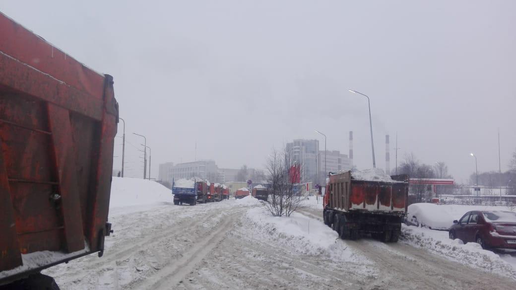 уборочные работы снега